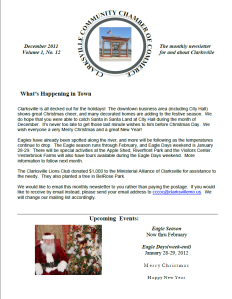 Clarksville Community Chamber of Commerce December Newsletter Cover