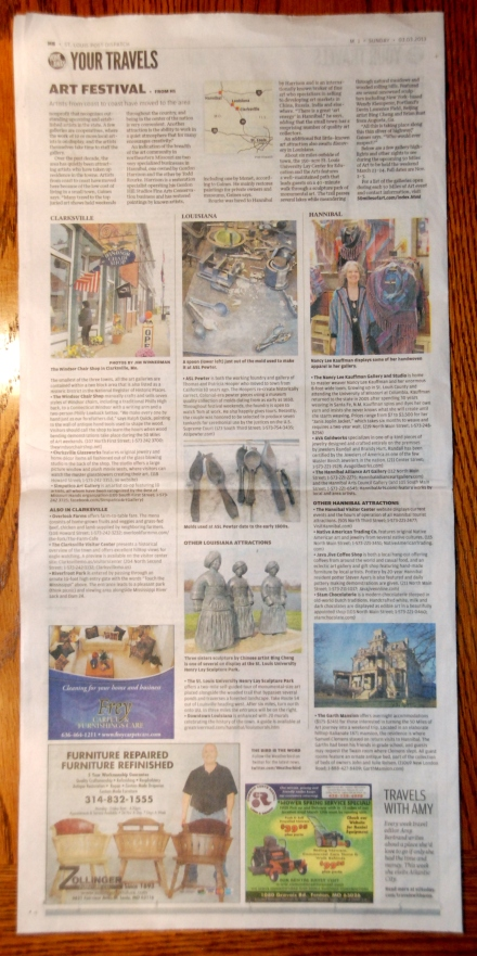 St Louis Post Dispatch: 50 Miles of Art write-up. Click to view full size.